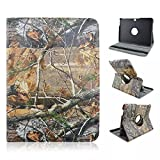 Tsmine Samsung Galaxy Tab 4 10.1 SM-T530 Camo Case - Premium 360 Degree Rotating PU Leather Case Camouflage Branch Straw Mossy Leaves For Samsung Galaxy Tab 4 10.1 SM-T530 T531, Branches