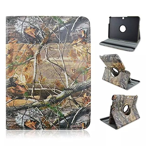 Tsmine Samsung Galaxy Tab 4 10.1 (10.1-Inch) Tablet (SM-T530nu T530 T531 T535) Camo Case - Premium 360 Degree Rotating PU Leather Case Camouflage Branch Straw Mossy Leaves , Branches
