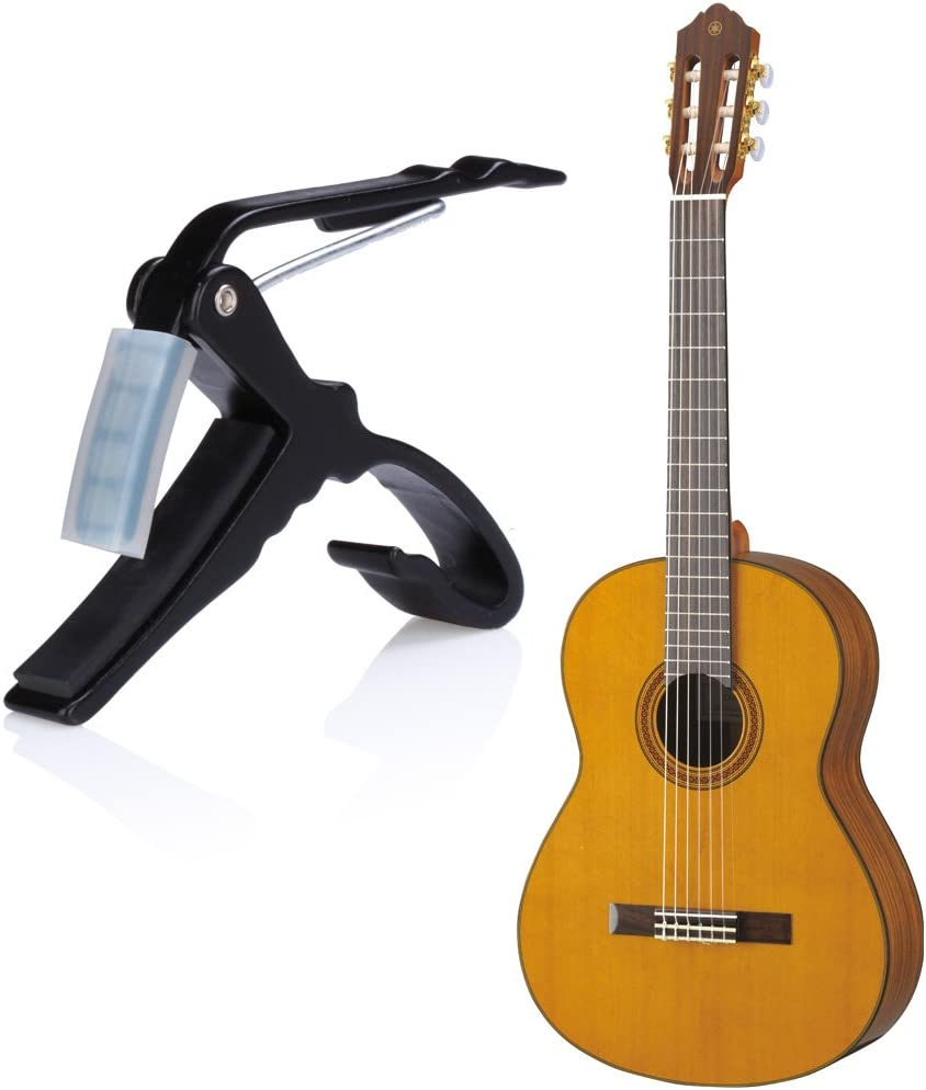 Black Single-handed Quick Change Acoustic Electric Classic 6-string Guitar Capo