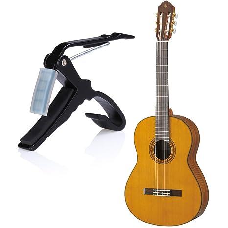 flexzion cejilla para guitarra acústica con una sola mano tecla de cambio rápido disparador con abrazadera ...