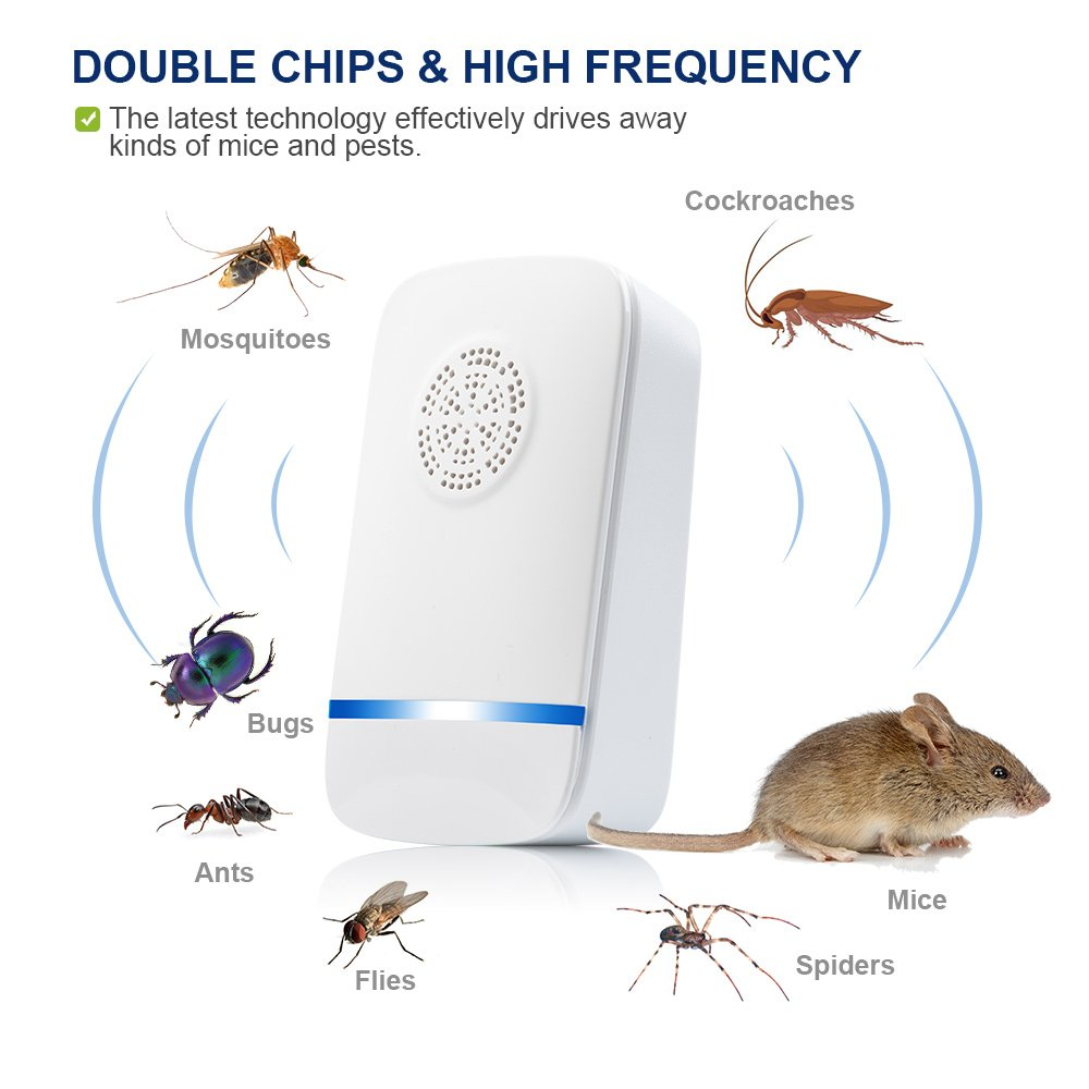 Lankoer Ultrasonic Pest Repeller 2018 Latest Upgrade Mosquito Repellent Circuitbest Repellentindoor Chip Electronic Mouse Plug In Control 2 Pack Garden