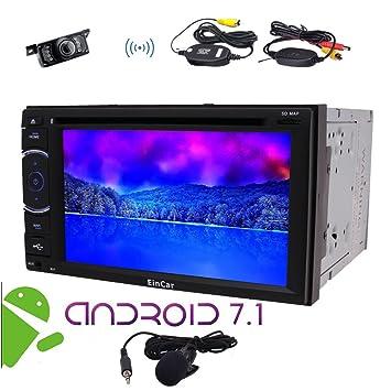 EinCar 2 Din Android radio de coche estéreo 6.2
