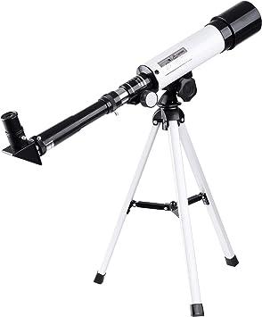 AW 50mm Aperture 360mm Astronomy Refractor Telescope Refractive Spotting Scope Tripod Observation Travel Camp for Kid Beginner