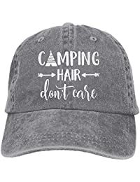 66d852819 Unisex Camping Hair Don't Care Vintage Adjustable Baseball Cap Denim Dad Hat