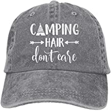 HHNLB Unisex Camping Hair Don t Care 1 Vintage Jeans Baseball Cap Classic Cotton Dad Hat Adjustable Plain Cap