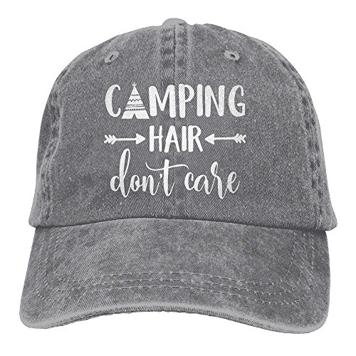Unisex Camping Hair Don't Care-1 Vintage Jeans Baseball Cap Classic Cotton Dad Hat Adjustable Plain Cap