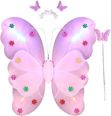 LED ala de Mariposa, Dragon868 3pcs de Disfraz de Hadas Mariposa ...