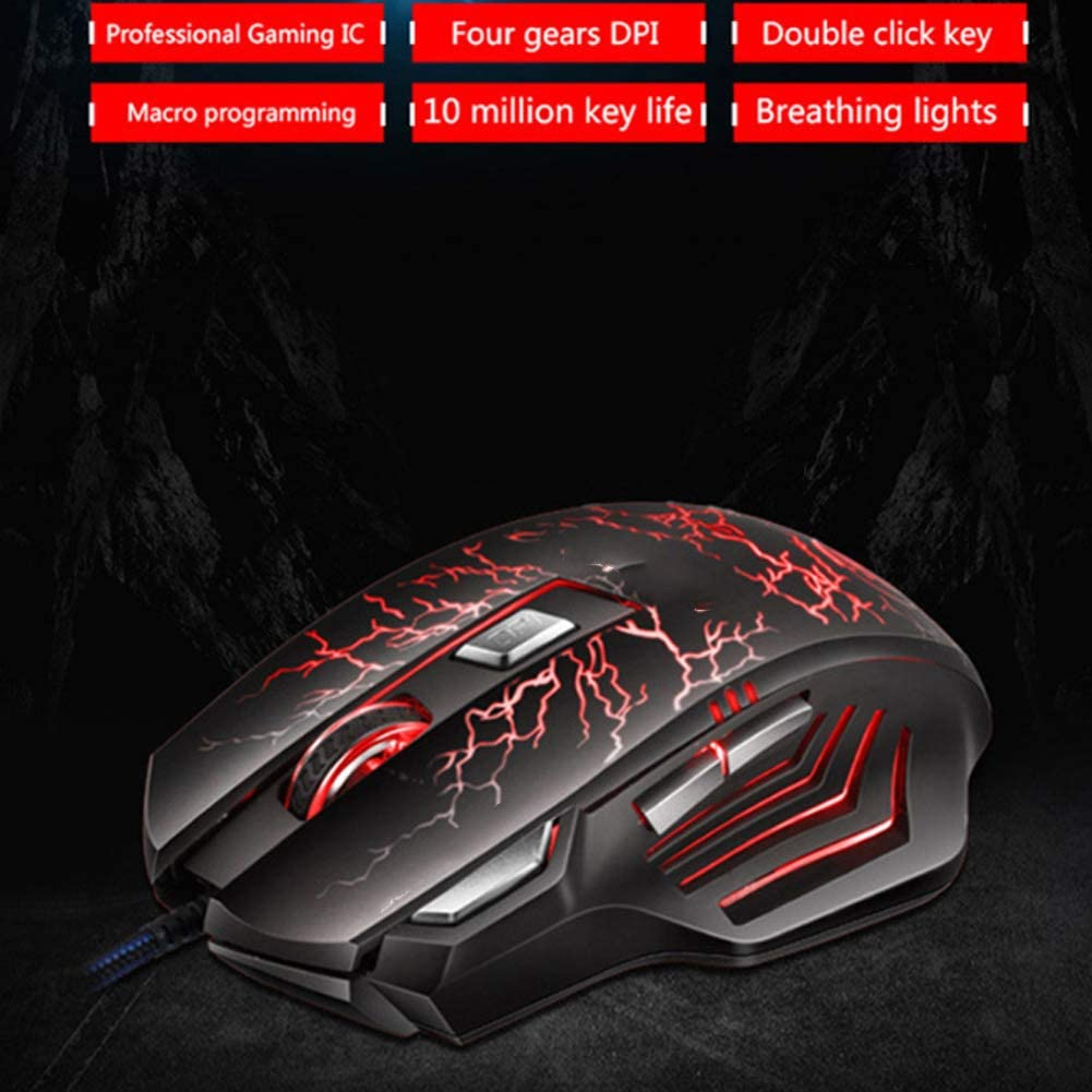 YYZLG A7 Wired Gaming Mouse Eating Chicken Mouse Macro Programming Photoelectric Gaming Aggravated Wired