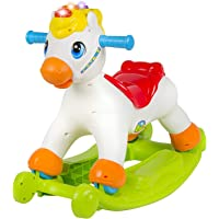 Smartcraft Rocking Horse , Musical Educational Rocking Horse with Ride On Rollers Learn Abc's, Shapes & Numbers
