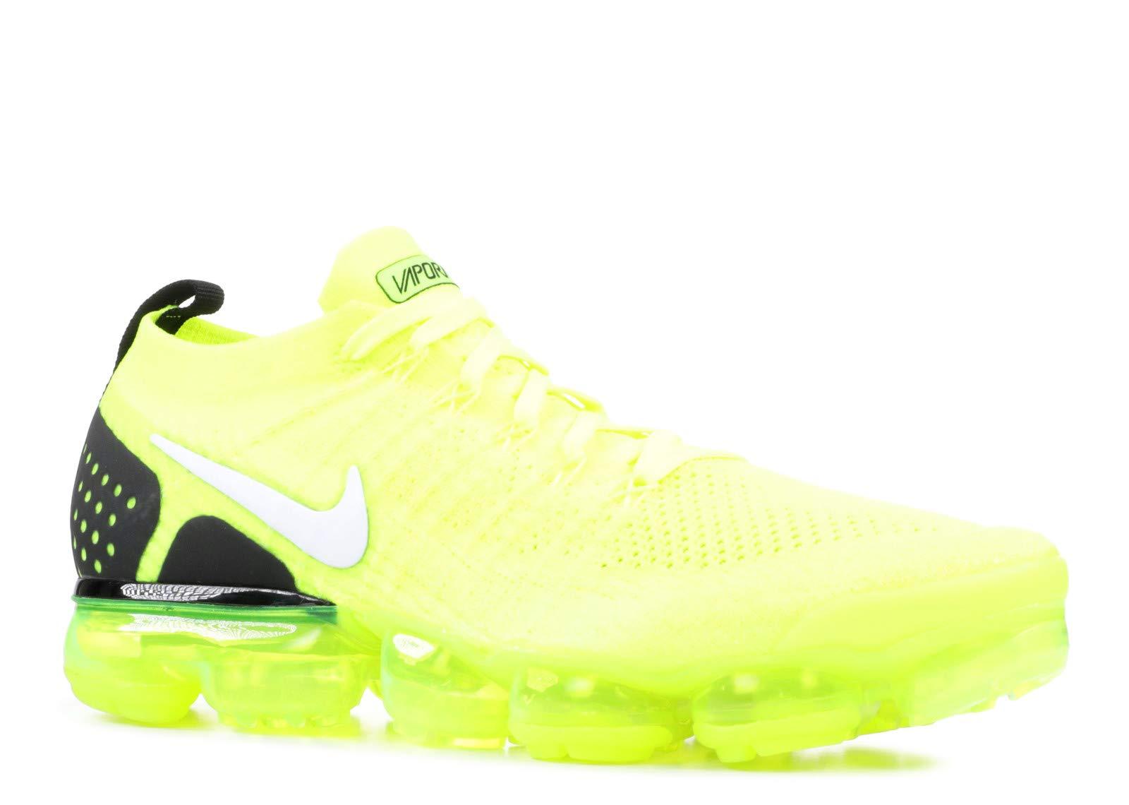 Nike Men's Air Vapormax 2 Flyknit Volt/White/Black 942842-700 (Size: 7)