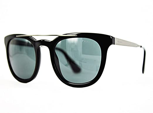 Amazon.com: Prada anteojos de sol pr13ps 1 ab1 a1 Negro Gris ...