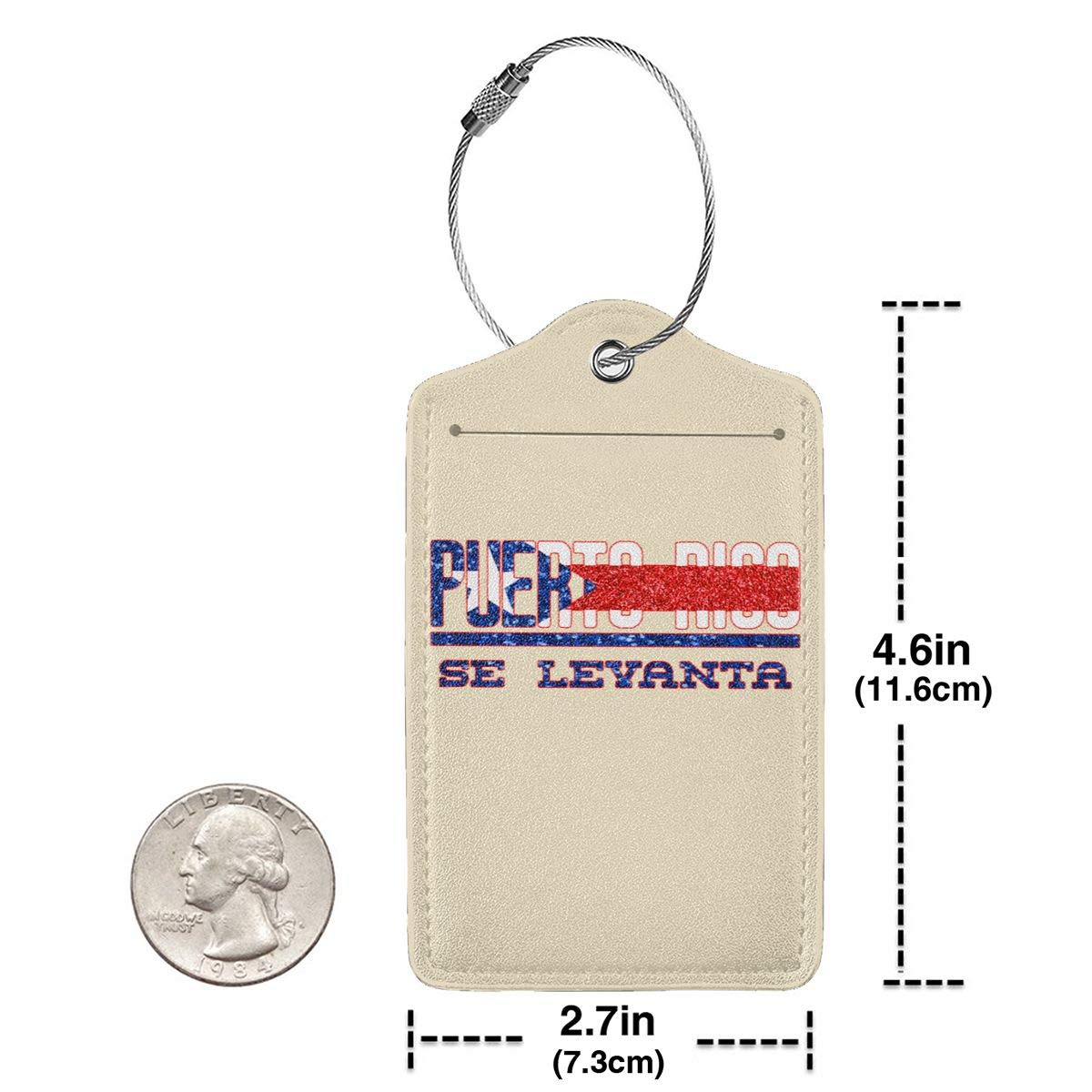 Puerto Rico Se Levanta Pray For Puerto Rico Leather Luggage Tag Travel ID Label For Baggage Suitcase