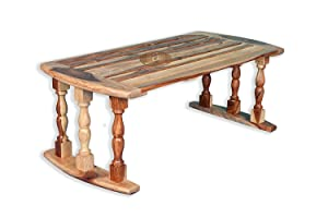 ROMANCHY Phoenix Rosewood Breakfast Serving Natural Finish Bed Table (24x12x9inch)