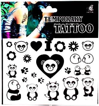 Tatuajes con Panda de osos, corazones, flores y de huellas ...