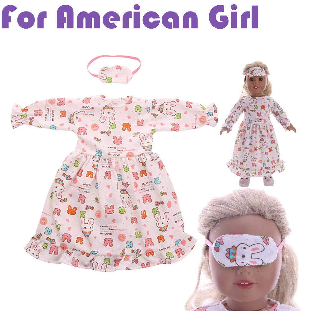 Accessory Toy Daily Costumes Doll Clothes Dress for 18 Inch American Girl Doll WSSB