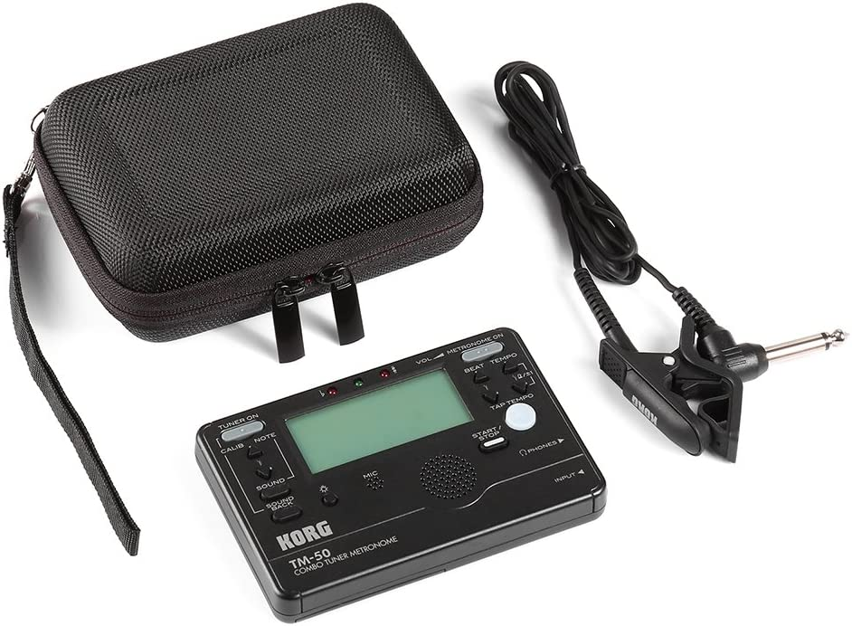 Hard Travel Case For Korg Tm-50 Tm-60Bk Tuner Metronome And Clip On Microphone