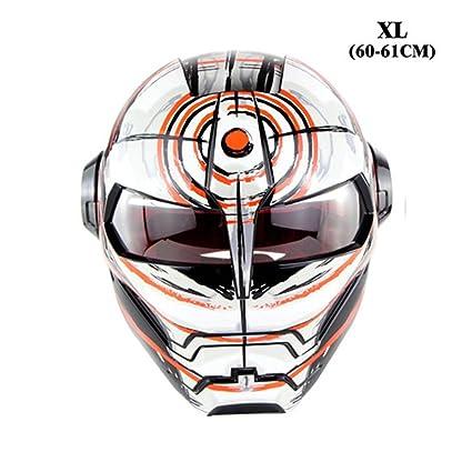 GOOENNSA Casco de Moto Personalizado para Bicicleta de Cara Completa Casco de Motocross Retro Ciclismo Desmontable