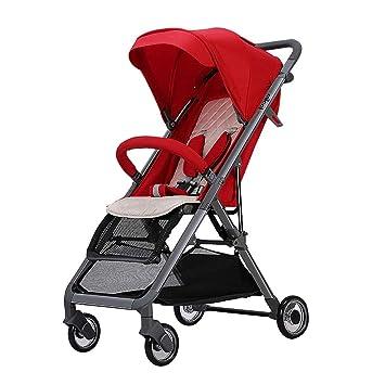 Moolo Cochecitos Cochecito de bebé Puede Sentarse reclinable Ultraligero Plegable Paisaje Alto bebé Niño Cuatro Estaciones universales Aleación de Aluminio ...