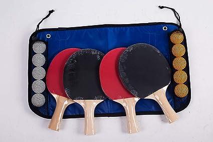 Amazon.com: TGA Sports - Juego de tenis de mesa con 4 ...