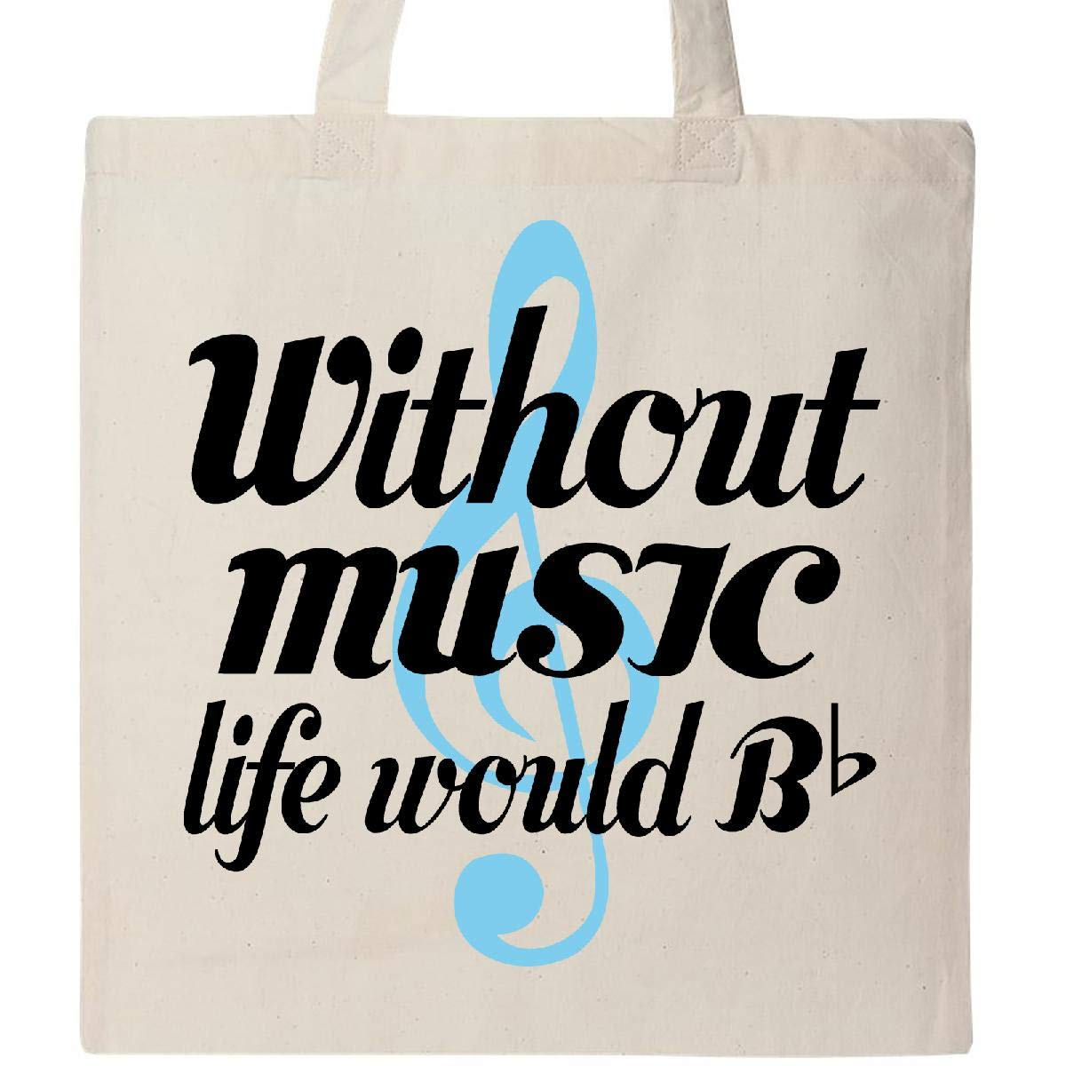 Inktastic - Without Music Life Would Be Flat トートバッグ One Size 14-149214-65-12-196  ナチュラル B07JNY82CY