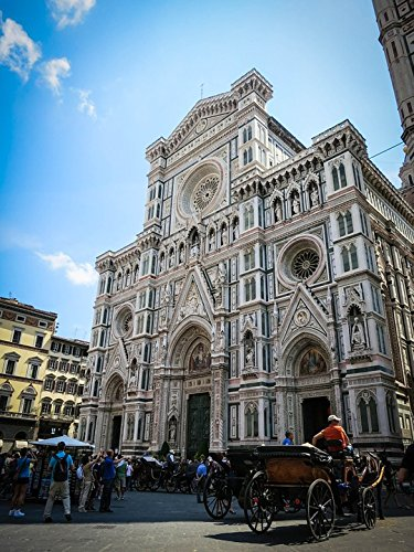 Home Comforts Peel-n-Stick Poster of Italy Santa Croce Florence Building Basilica Poster 24x16 Adhesive Sticker Poster Print