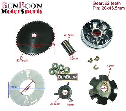 Amazon com: GY6 50cc Engine Parts Variator Kit 139QMB