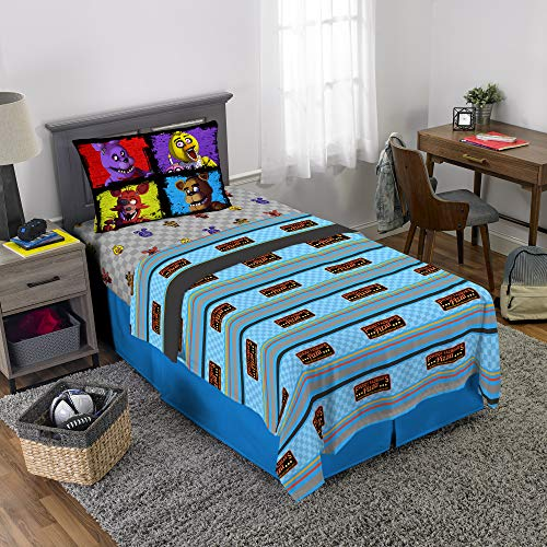 Scott Games Five Nights at Freddy's Pizza Security Sheet Set Twin (Sheets Pizza)
