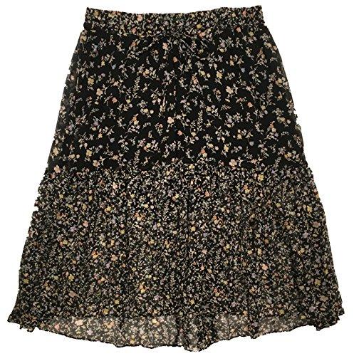 LAUREN RALPH LAUREN Plus Size Floral Georgette Maxi Skirt (2X, Multi)