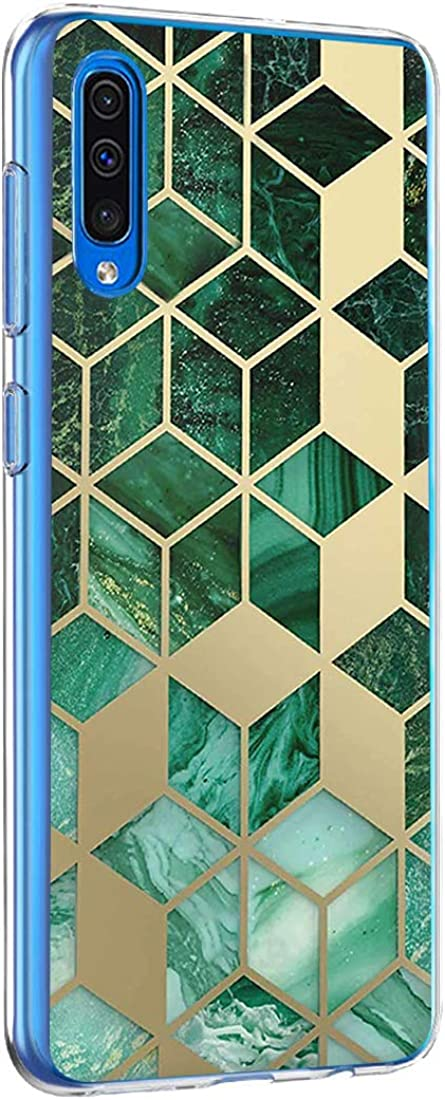 Croachi H/ülle Kompatibel mit Samsung Galaxy A30 H/ülle Transparent TPU Silikon Ultra D/ünn Slim Galaxy A30 Handyh/ülle Crystal Antikratz Bumper Schutzh/ülle Tasche-Marmor Blume Muster