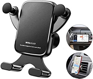 Ebow Car Phone Holder Car Phone Mount Universial Air Vent Phone Holder 360 Degree Adjustable Gravity Stable Car Phone Cradle Mount Horizontal & Vertical Place for iPhone Samsung All Smartphone