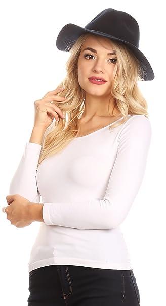 387f713cbba Sakkas HatW17 - Salma Wide Brim Fedora Wool Hat with Adjustable Satin  Lining Tunnel - F2280-Black - OS at Amazon Women s Clothing store
