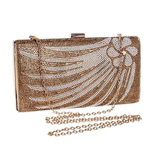 Borsa signore frizione frizione borsa cerimonia borsa nuziale di della borsa della della Silver borsa Gold Color della della KERVINZHANG borsa borsa a diamante tracolla della del della delle della 44dqa