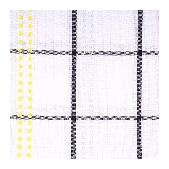 "Color Pop Plaid Square Tablecloth, 100% Cotton with 1/2"" Hem (52x52"" - Seats 4) - TABLECLOTH SEATS 4 PEOPLE - 100% cotton with 1"" hem, see tablecloth size chart in images to decide on size needed EASY CARE - 100% cotton with 1"" hem. Machine wash in cold water separately, gentle cycle, tumble dry low. Low iron if needed. Cotton may shrink. BRIGHT AND CHEERFUL COLORS - Add a splash of fuchsia, mint, yellow and green to your party table. Colorful Stripes on white background that is sure to capture attention at the table setting. - tablecloths, kitchen-dining-room-table-linens, kitchen-dining-room - 61vkIq9r7bL. SS570  -"