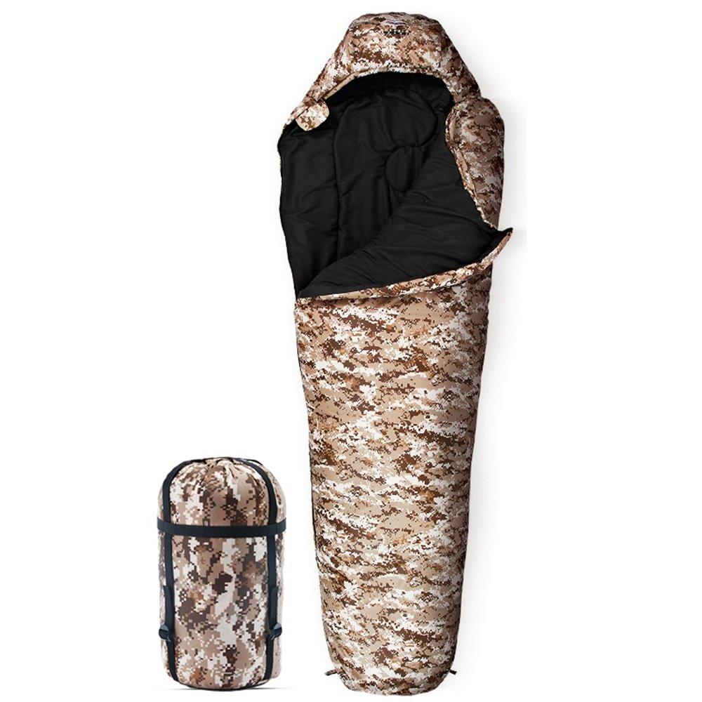LWFB ミイラ寝袋/コットン/スプライサブル防水/アダルトアウトドアキャンプカモ寝袋4シーズンに最適220 * 80(60)cm B07CLXMJF4 2#|B B 2#
