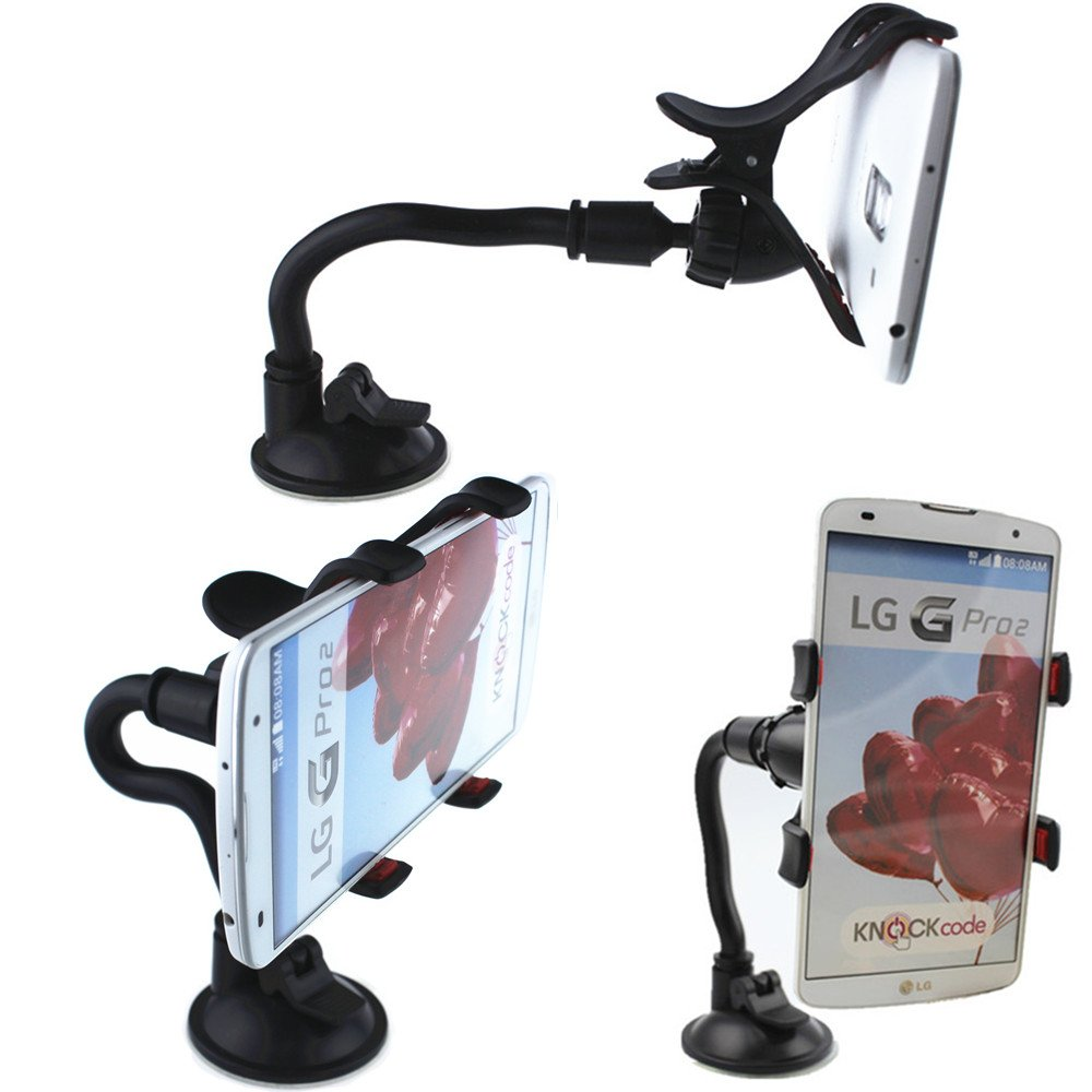 Brila Easy-to-use Car Mount Holder Universal Windshield Phone Holder for All Smartphones and GPS Navigation
