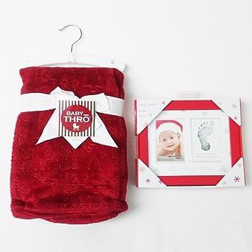 Amazon.com: Babys First Christmas Baby Thro Plush Blanket Bundled ...