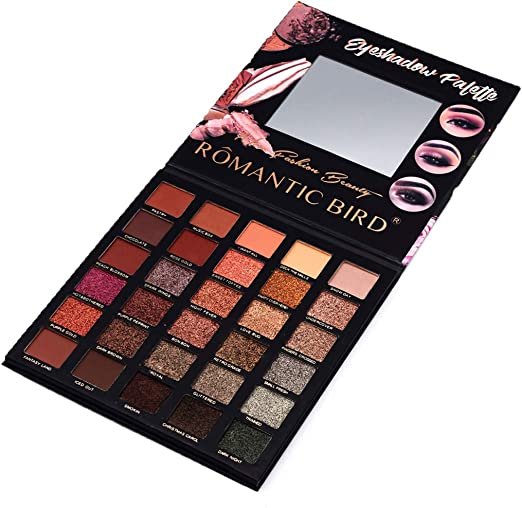 Eyeshadow - Paleta de sombras de ojos con purpurina, 30 colores mate: Amazon.es: Belleza