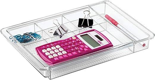mDesign Organizador de escritorio extensible – Útil bandeja de ...