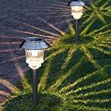 SuperSolar Pathway Stake Lights - Solar Powered - Warm White LEDs - 2 Pack b