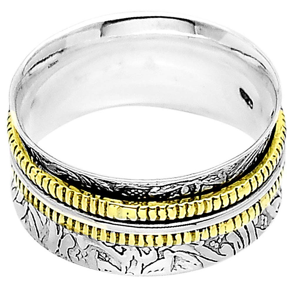 Desiregem Anti Anxiety and Worry Less Meditation Spinning 925 Sterling Silver Ring Size DGR1032 8.5