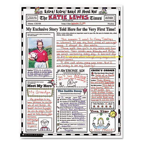 Instant Personal Poster Sets, Extra Extra Read All About Me, 17'' x 22'', 30/Pack, Sold as 1 Package, 30 Each per Package