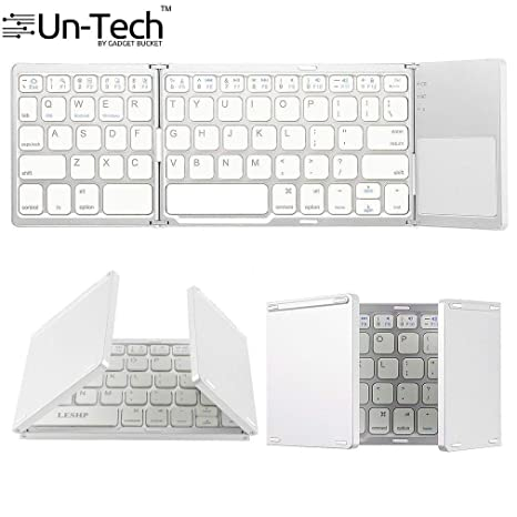 2d5347ca453 Gadgetbucket UnTech Foldable Bluetooth Keyboard with Touchpad for All  Devices Windows PC iOS Android Tablet MacBook