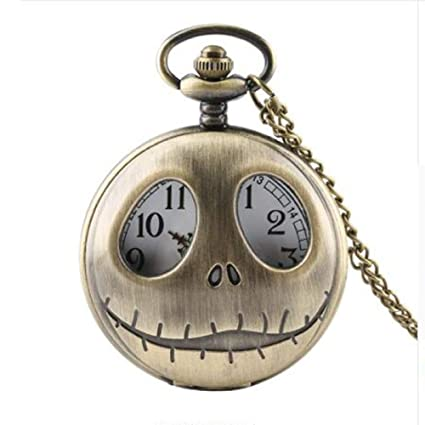 Sky God Relojes de Bolsillo, Reloj Clásico de Bolsillo con Números Romanos, Reloj de