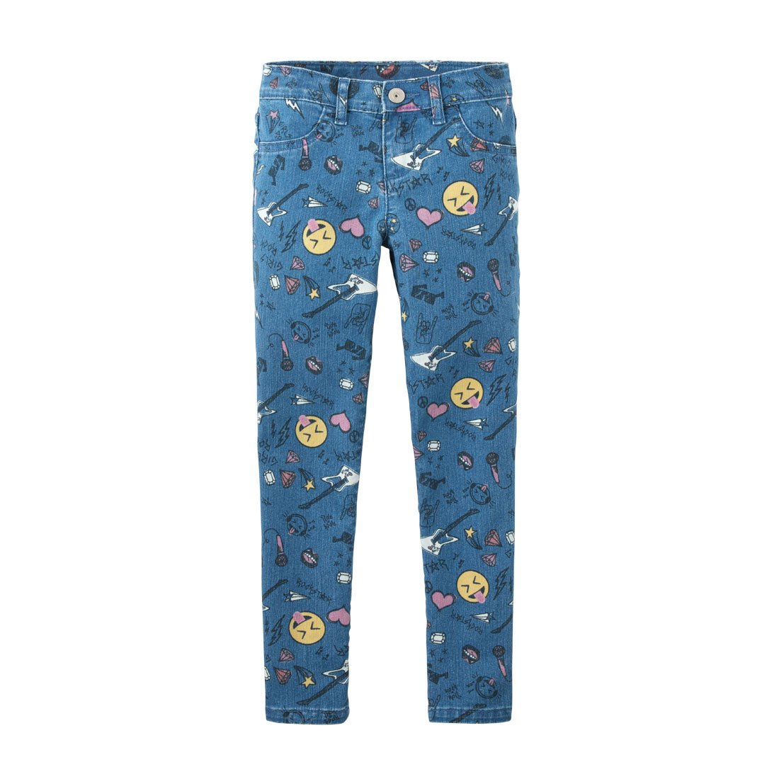 The Children's Place Big Girls' Printed Jeggings, Glacierice, 8