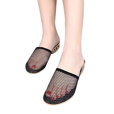 67e20c7d2eeb5 Goodtrade8 Mesh Slipper Flat Summer Sandal for Women
