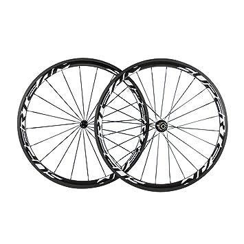 38 mm Full 3 K fibra de carbono Clincher ruedas para bicicleta Llantas para 700 C bicicleta de carretera ruedas Rim R13 Hub: Amazon.es: Deportes y aire ...