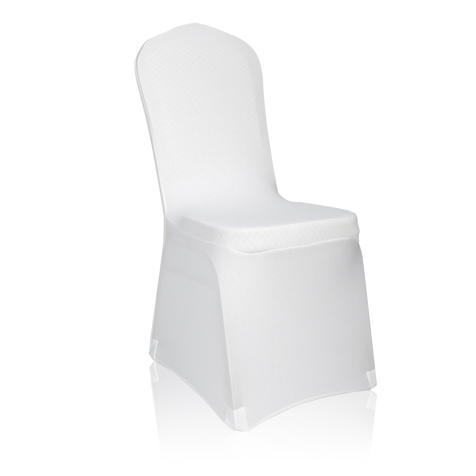 Emart Set of 50pcs White Color Polyester Spandex Banquet Wedding Party Chair Covers by EMART