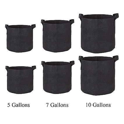 Amazon.com: Homezal - Bolsas de cultivo de 5 galones/7 ...