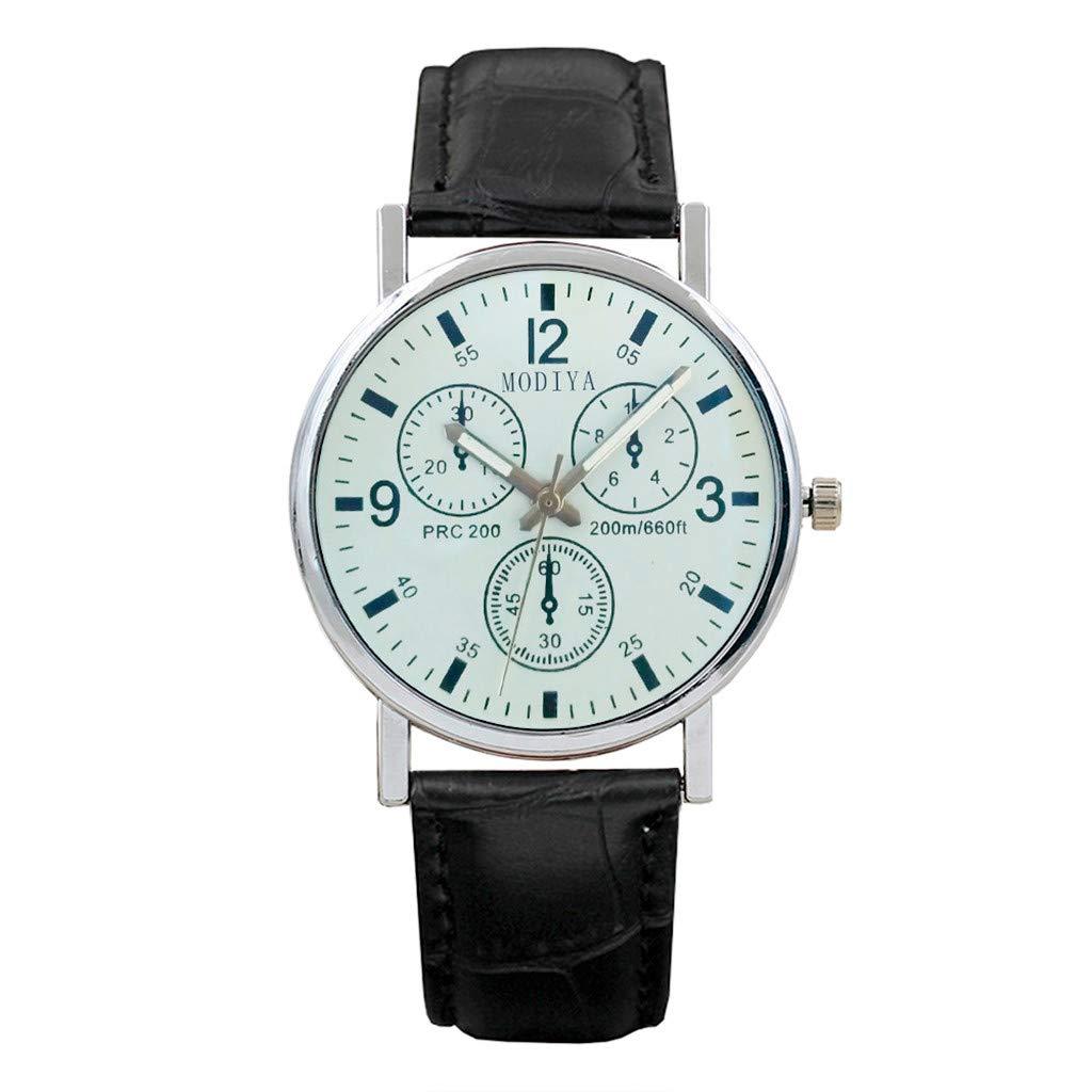 Six Pin Watches Men's Watch Blue Glass Belt Watch Men