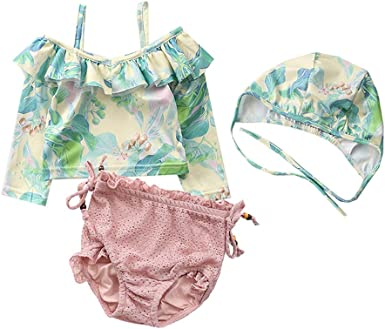TAIYCYXGAN Baby Girls One Piece Swimsuit Kids Ruffle Bathing Suit Princess Backless Swimwear Beachwear